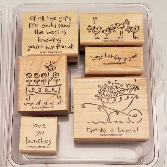 """2005 Retired Stampin' Up! """"Love Ya Bunches"""" Stamps"""